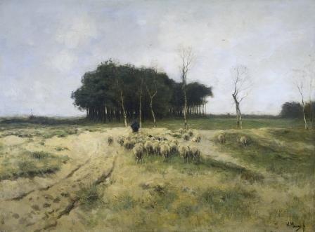 Heide te Laren, door Anton Mauve.