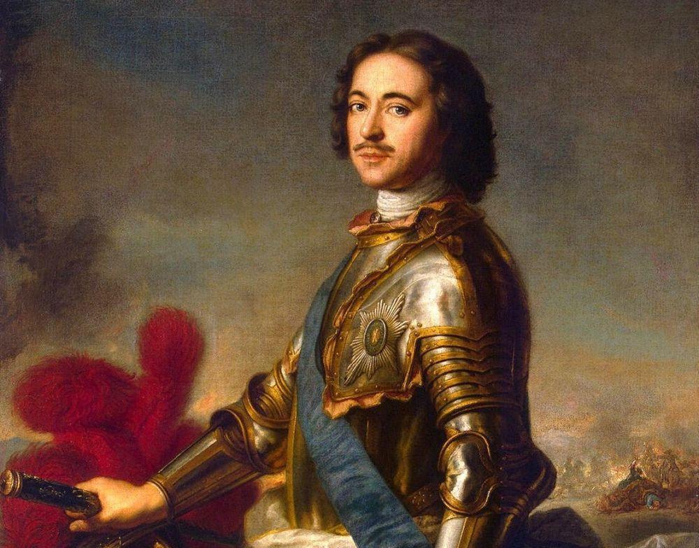 Detail Portret Peter de Grote