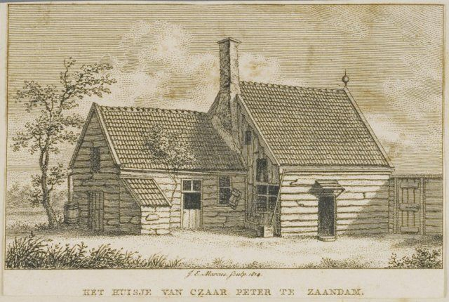 Gravure Tsaar Peterhuisje te Zaandam