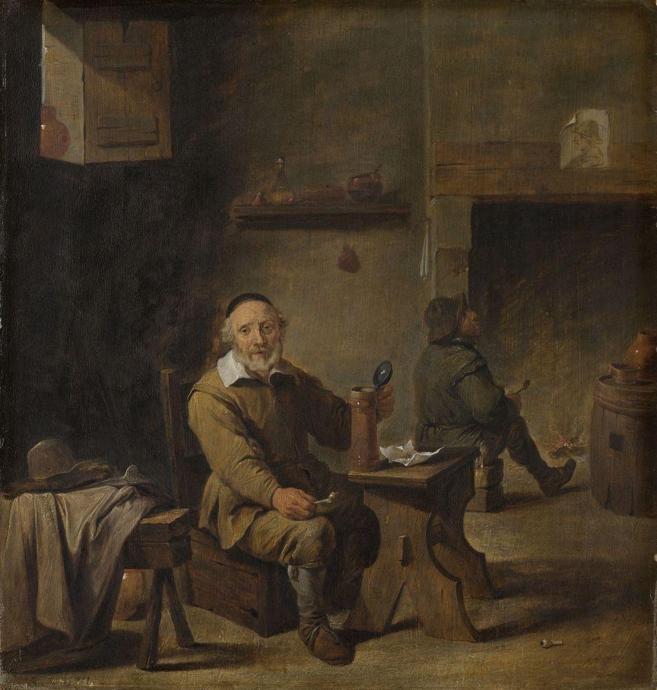 De oude bierdrinker, kopie naar David Teniers (II), 1640 – 1660.