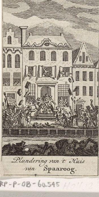 Het huis van kapitein Martinus Spaaroog wordt geplunderd