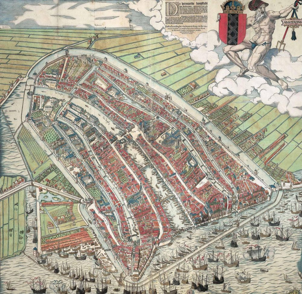 De beroemde vogelvluchtkaart van Cornelis Anthonisz