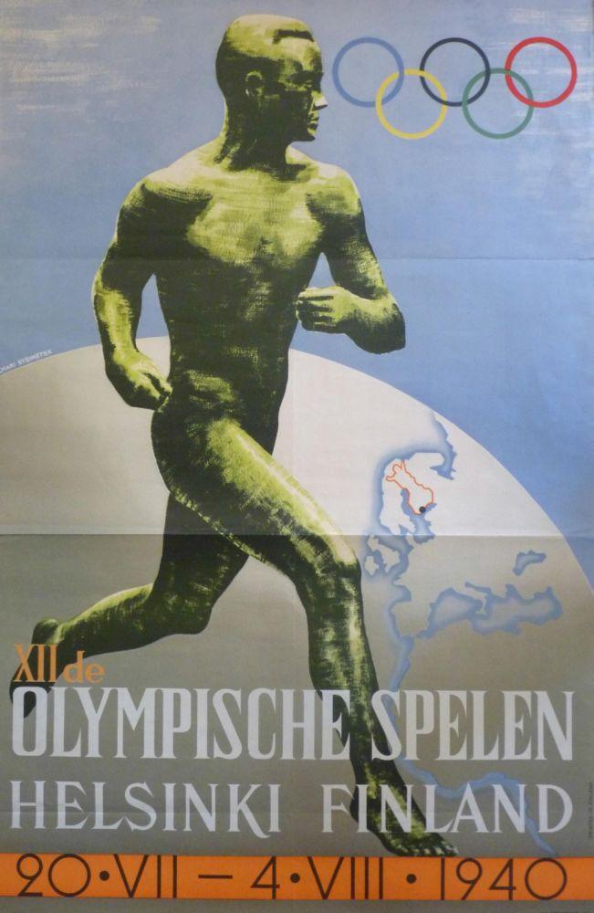 Zeldzame poster van nooit gehouden Spelen in Helsinki, 1940