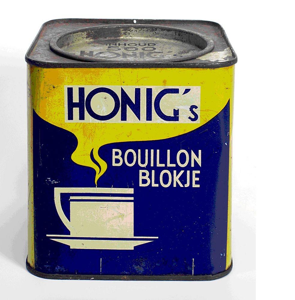 Blik Honig's Bouillon blokje met ronde deksel