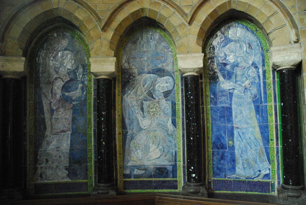 Muurversiering Kathedrale basiliek Sint Bavo