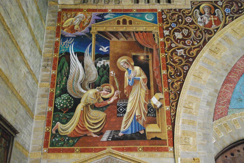 Wandschildering in de Nieuwe Sint Bavo