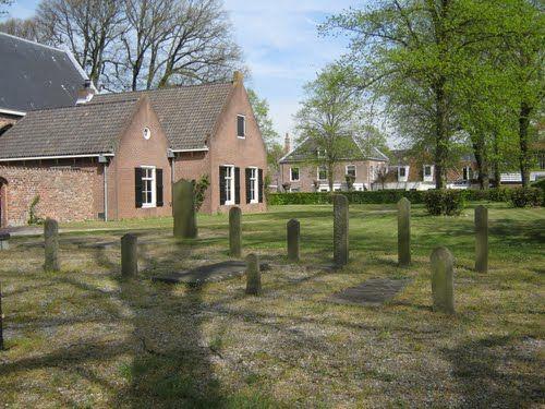 Kerkhof Engelmunduskerk Velsen.