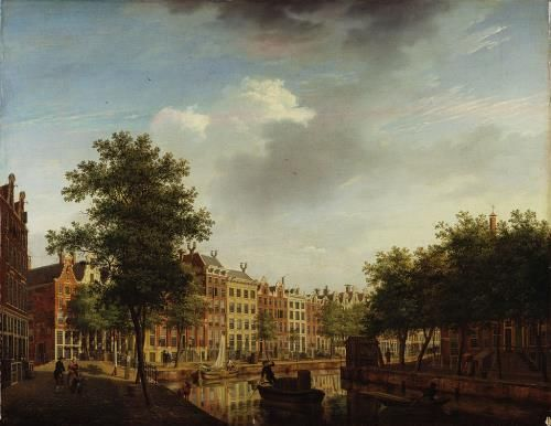 e Herengracht op de hoek van de Leidsegracht, 1783, Isaac Ouwater