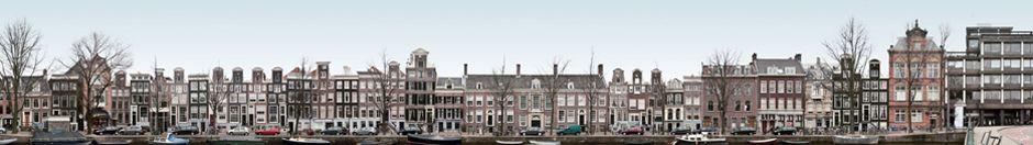 Panorama van een Amsterdamse gracht