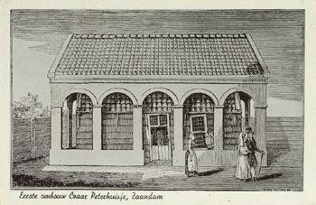 Tsaar Peterhuisje met eerste ombouw van Anna Paulowna.