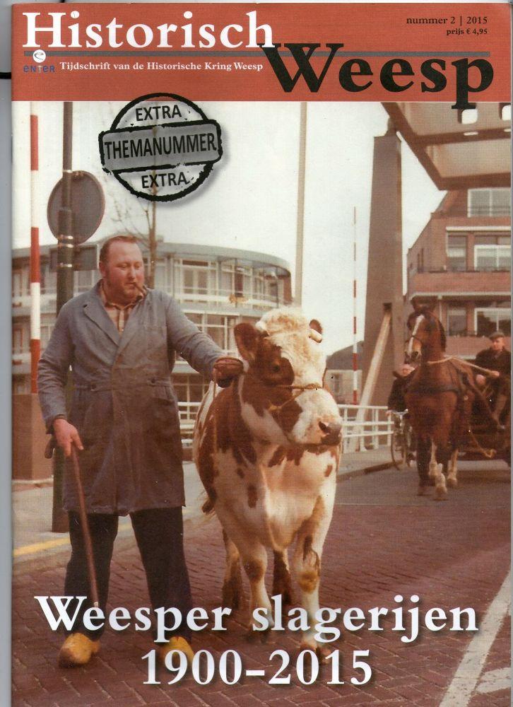Cover van het slagersnummer van Historisch Weesp, 2015