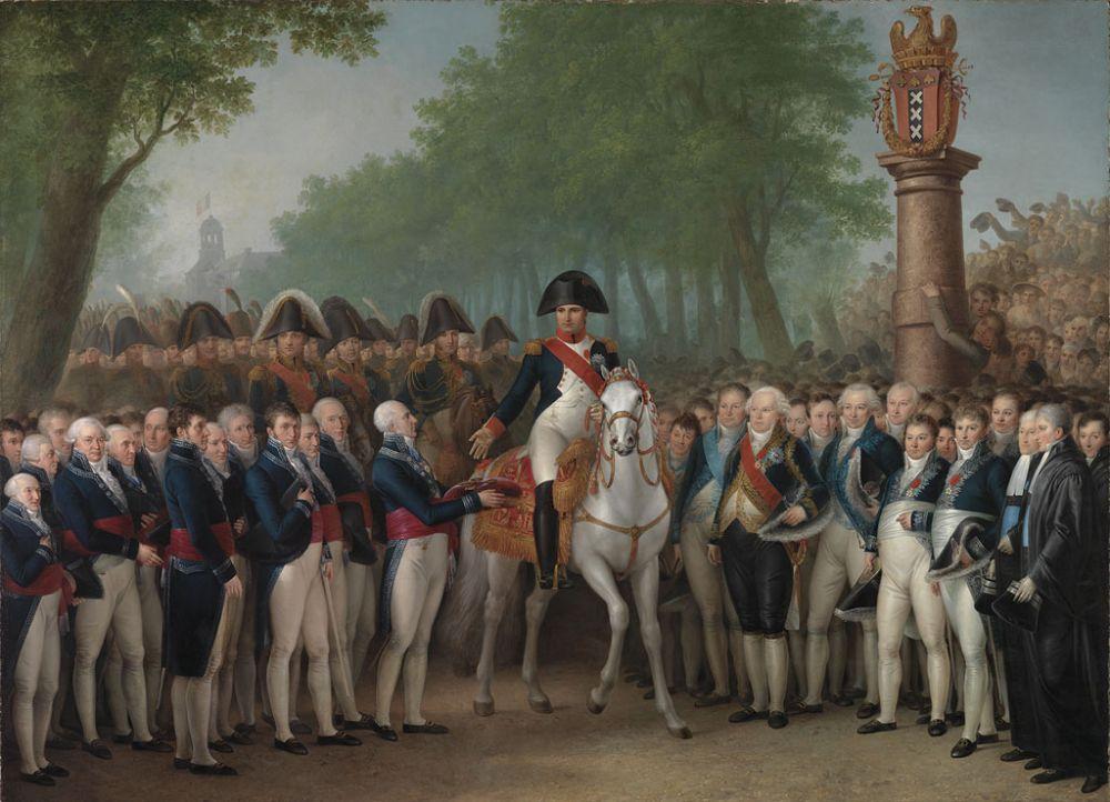 Intocht van Napoleon in Amsterdam, 9 oktober 1811, door Mattheus Ignatius van Bree.