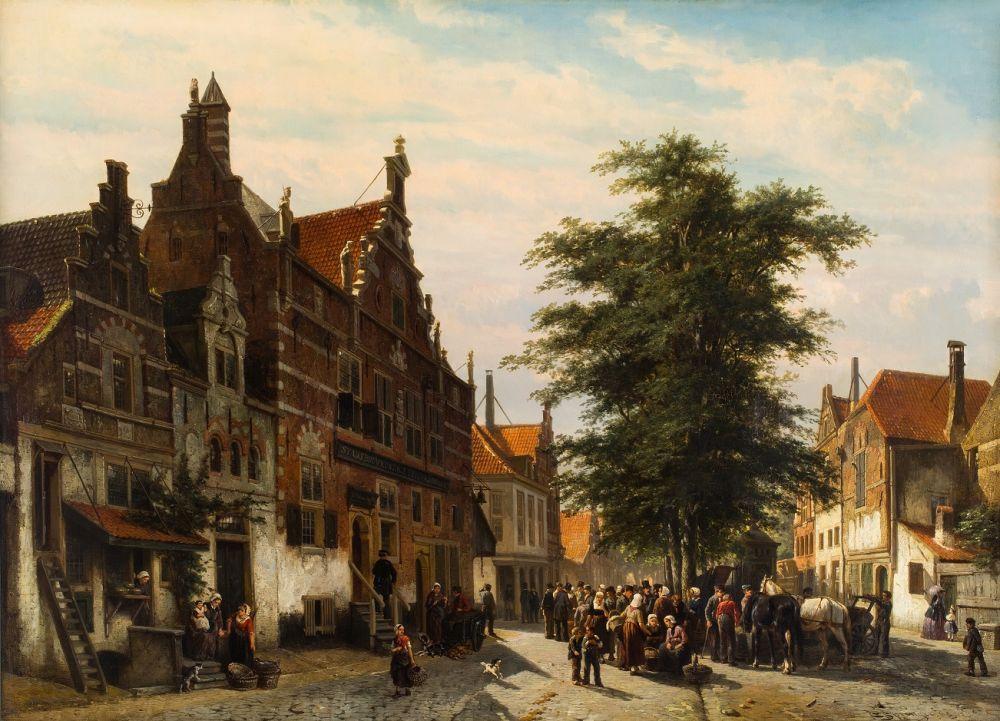 De Waag met kaasmarkt in Enkhuizen