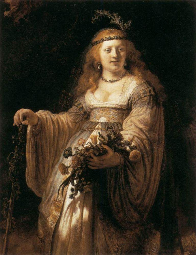 Saskia als Flora, 1635