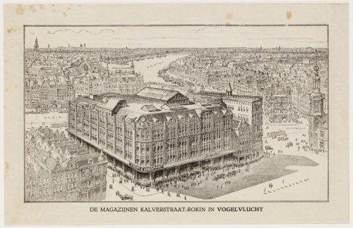 Nieuwbouw Vroom & Dreesmann in 1912.