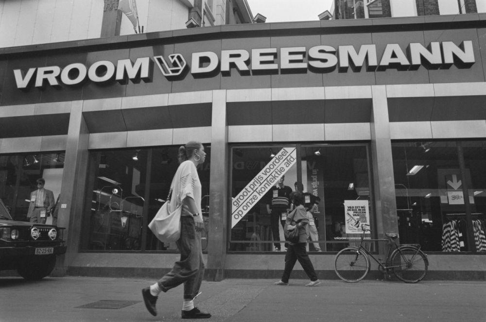 Het warenhuis Vroom & Dreesmann in Amsterdam in 1988.