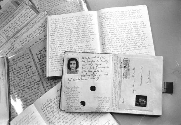 Dagboeken van Anne Frank. Beeld: ANP Archief.