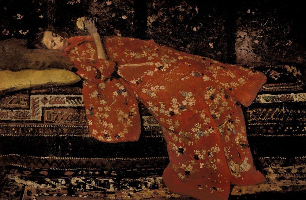 De rode kimono, 1896
