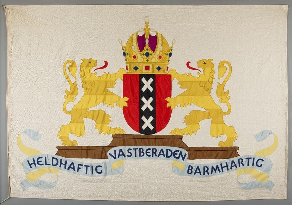 Deviesvlag van de stad Amsterdam, 1947.