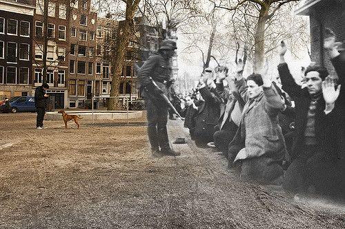 22 februari 1941. 425 jonge joodse mannen worden door de nazi's opgepakt en verzameld op het Jonas Daniel Meijerplein. Allen worden vermoord in de concentratiekampen Buchenwald en Mauthausen. Beeld: Live Electrode via Flickr