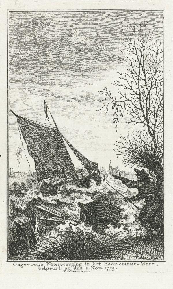 Woelig water in het Haarlemmermeer
