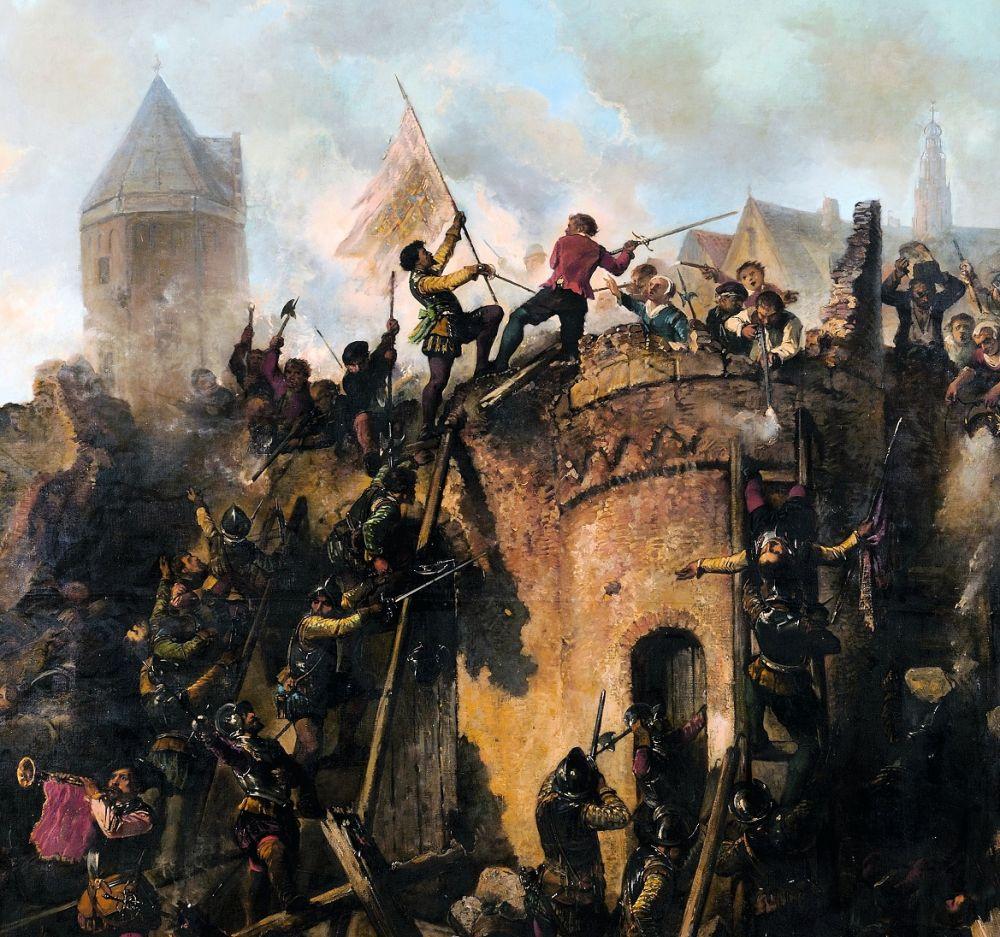 Bestorming van Alkmaar op 18 september 1573.