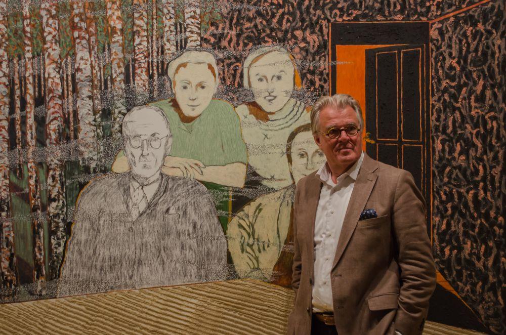 Jeroen Krabbé voor zijn werk 'april 1942'.