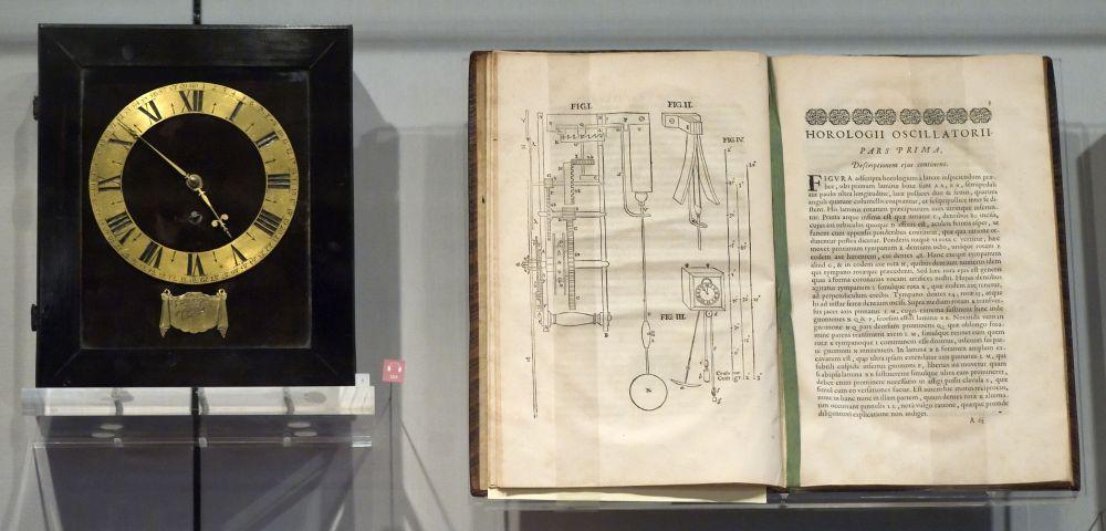 Een slingerklok naar het ontwerp van Christiaan Huygens