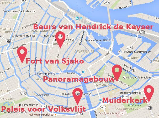 Verdwenen gebouwen in Amsterdam