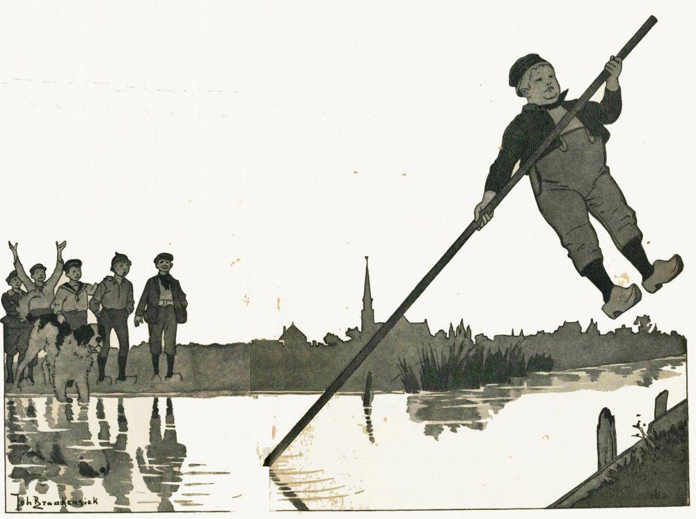 Illustratie van Joh. Braakensiek uit 'Dik Trom en zijn dorpsgenoten' door C. Joh. Kieviet. Beeld: Janwillemsen, flickr.com