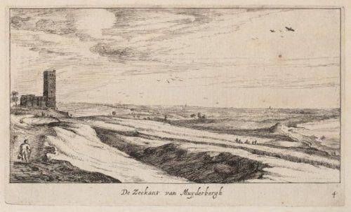 Zicht op de Zuiderzee, vanuit Muiderberg