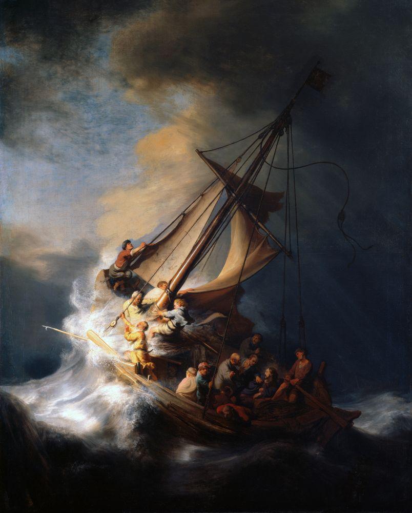 Storm op het meer Galilea