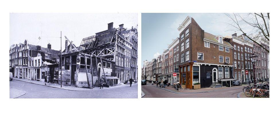 Keizersgracht 95b, voor en na de restauratie