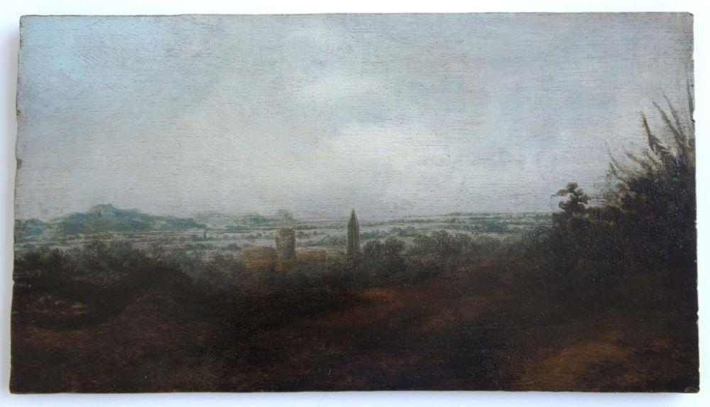 Panoramalandschap met twee torens