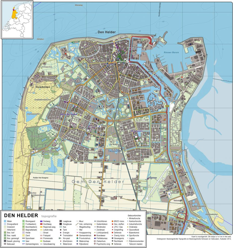 Kaart van Den Helder