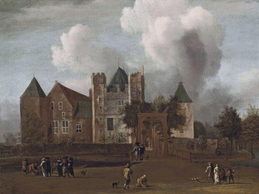 Gezicht op Slot Purmerstein, Jan van Kessel, 1664