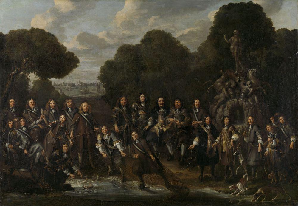 Allegorie op de bloei van de Nederlandse visserij na de Tweede Engelse Zeeoorlog (1665-67). Willem Eversdijck, 1667 - 1671