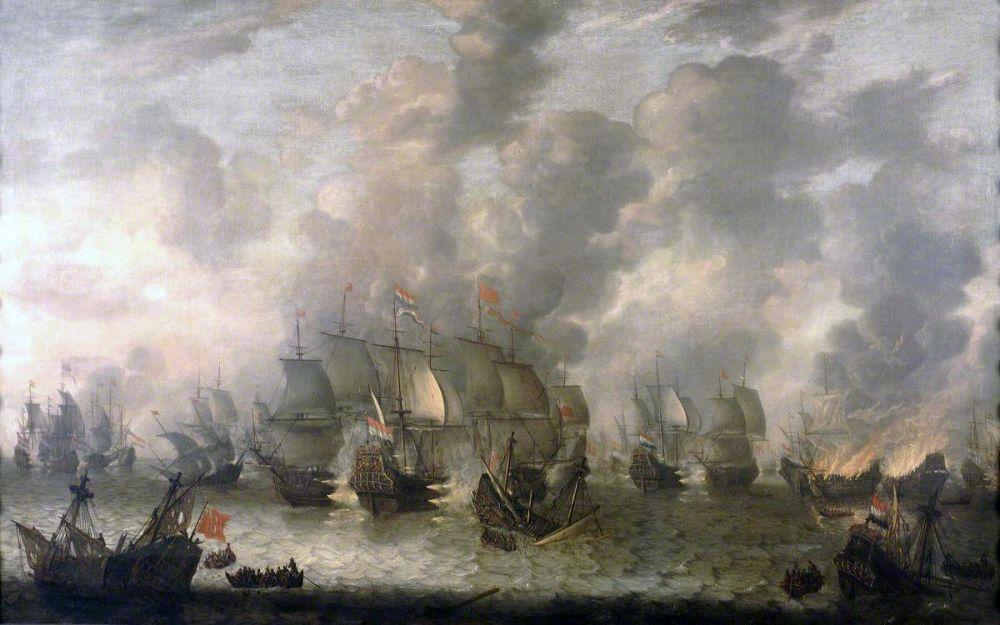 De Slag bij Ter Heijde (Eerste Engels-Nederlandse Oorlog). Jan Abrahamsz. van Beerstraten