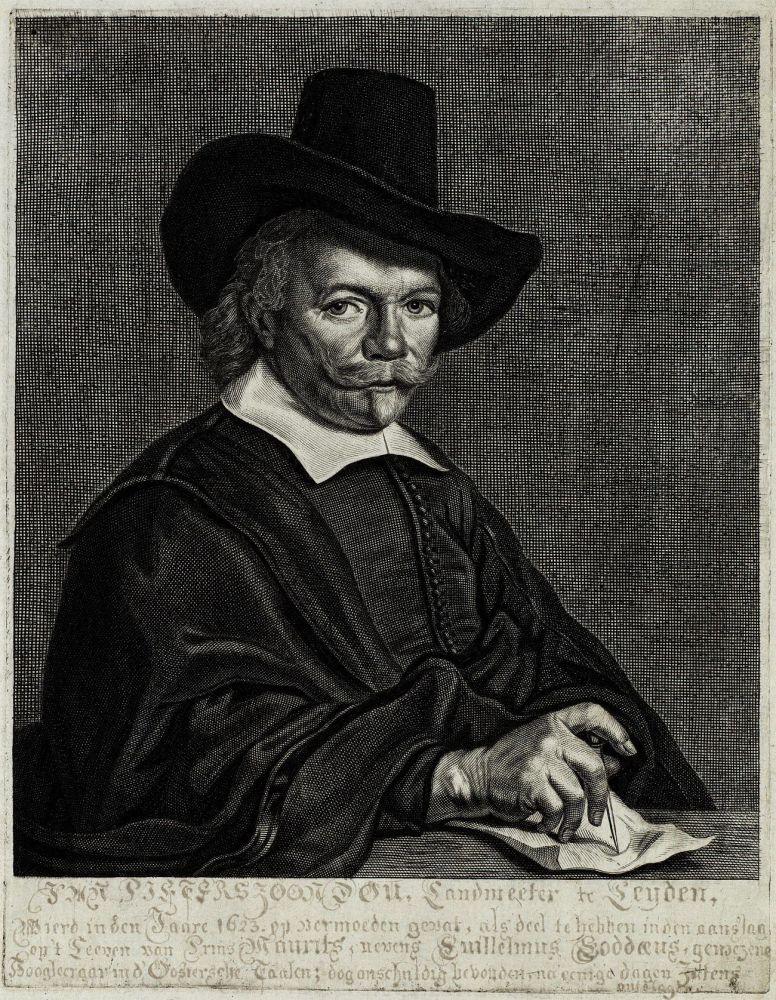 Gravure van Jan Pieterszoon Dou door Reinier van Persijn