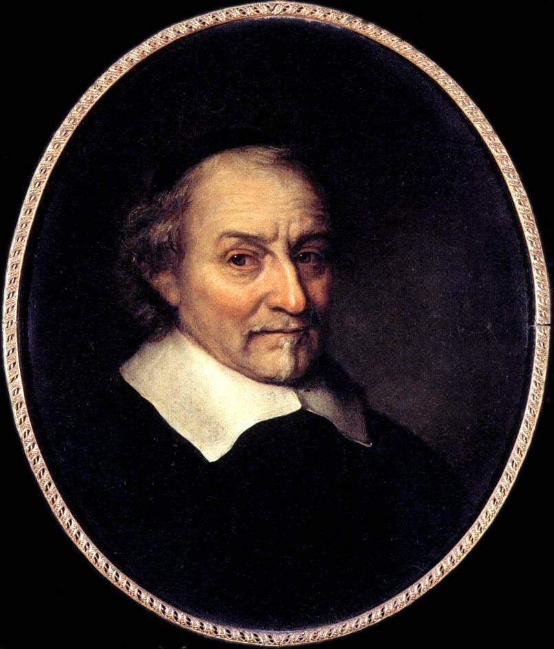 Portret van Joost van den Vondel door Philips Koninck, 1665