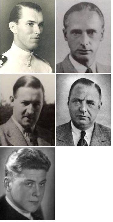 De vijf gefusilleerden op de Bussummerheide.
