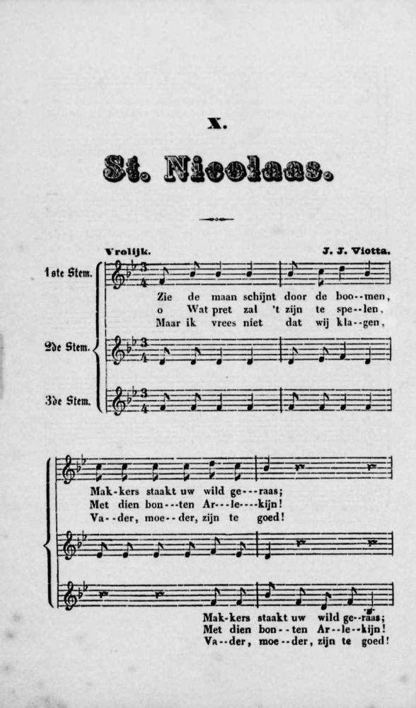 'St. Nicolaas' of 'Zie, de maan schijnt door de boomen'