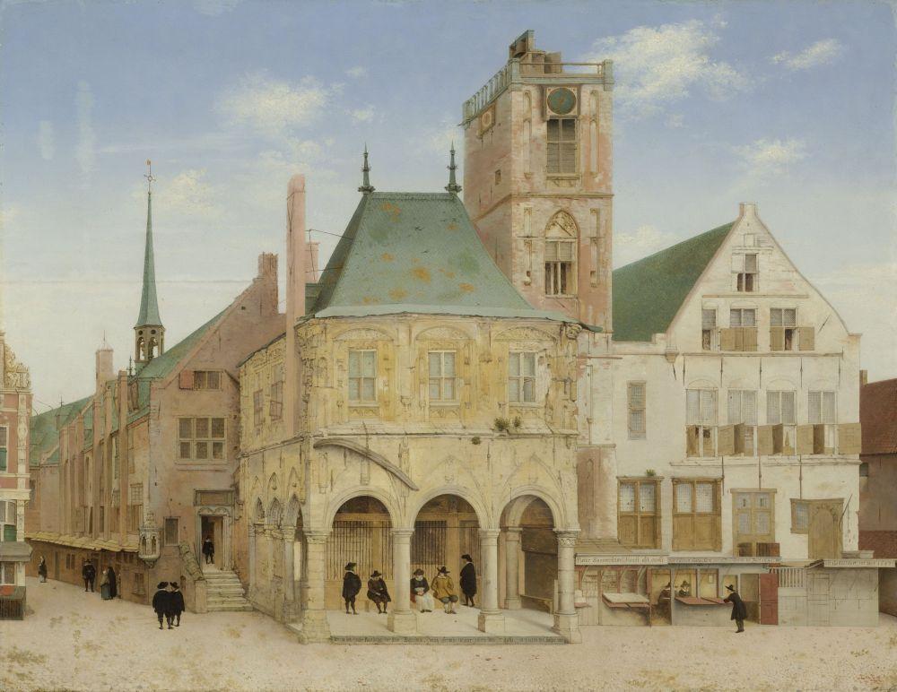 De Amsterdamsche Wisselbank was gevestigd in het stadhuis op de Dam