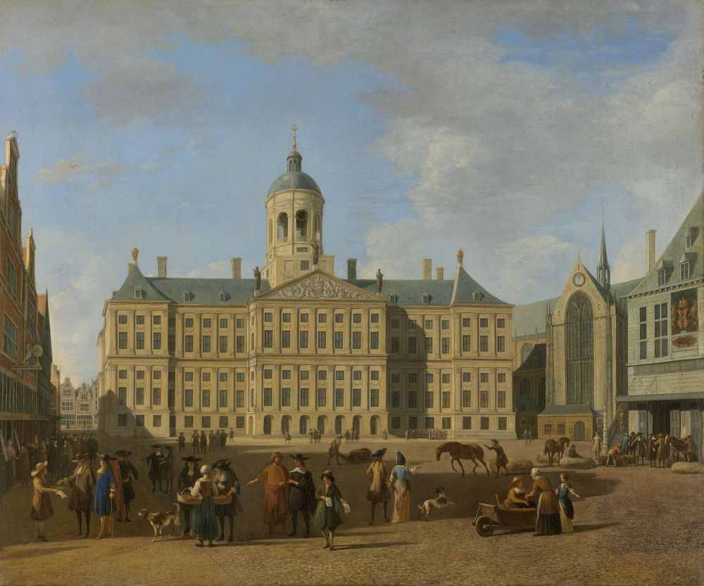 De Wisselbank zat ook in het nieuwe stadhuis op de Dam