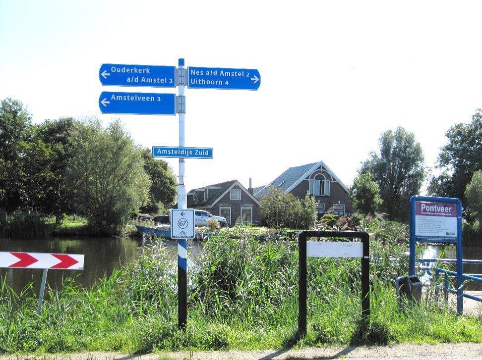 De Amstel op 2 september 2014 ter hoogte van de Nesserlaan. Hier staken de BS en SS in 1945 over. Beeld: Wim Groeneweg, Vereniging Historisch Amstelveen.
