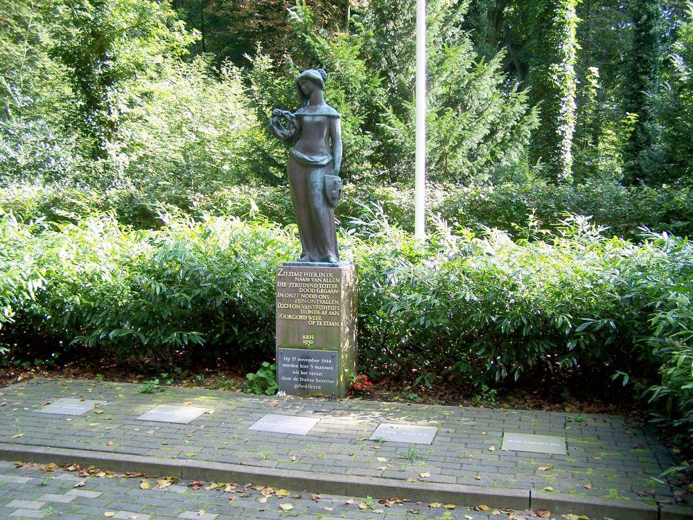 Het monument van de Alkmaarse Stedenmaagd. Beeld: Wikimedia Commons