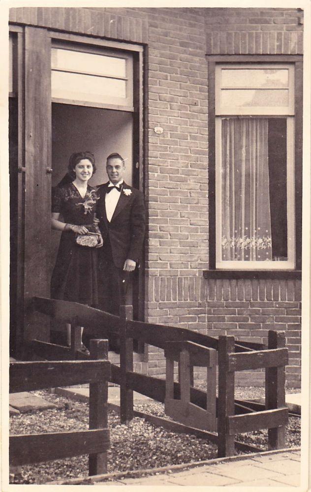 Elly en Leo Trap bij hun eerste huwelijk in 1940.