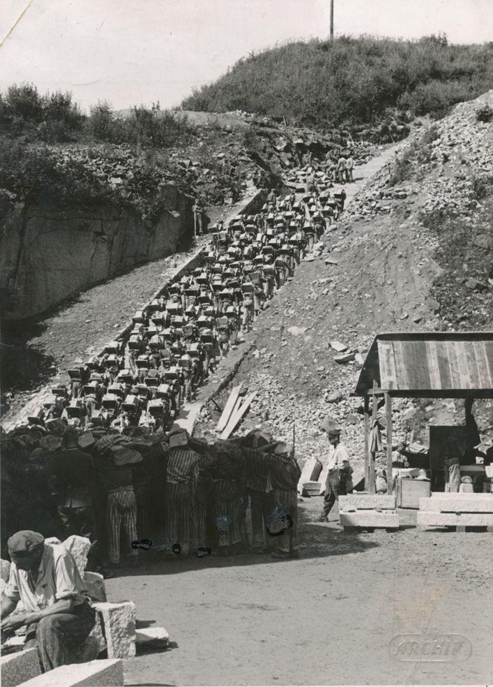 De Dodentrap van kamp Mauthausen.