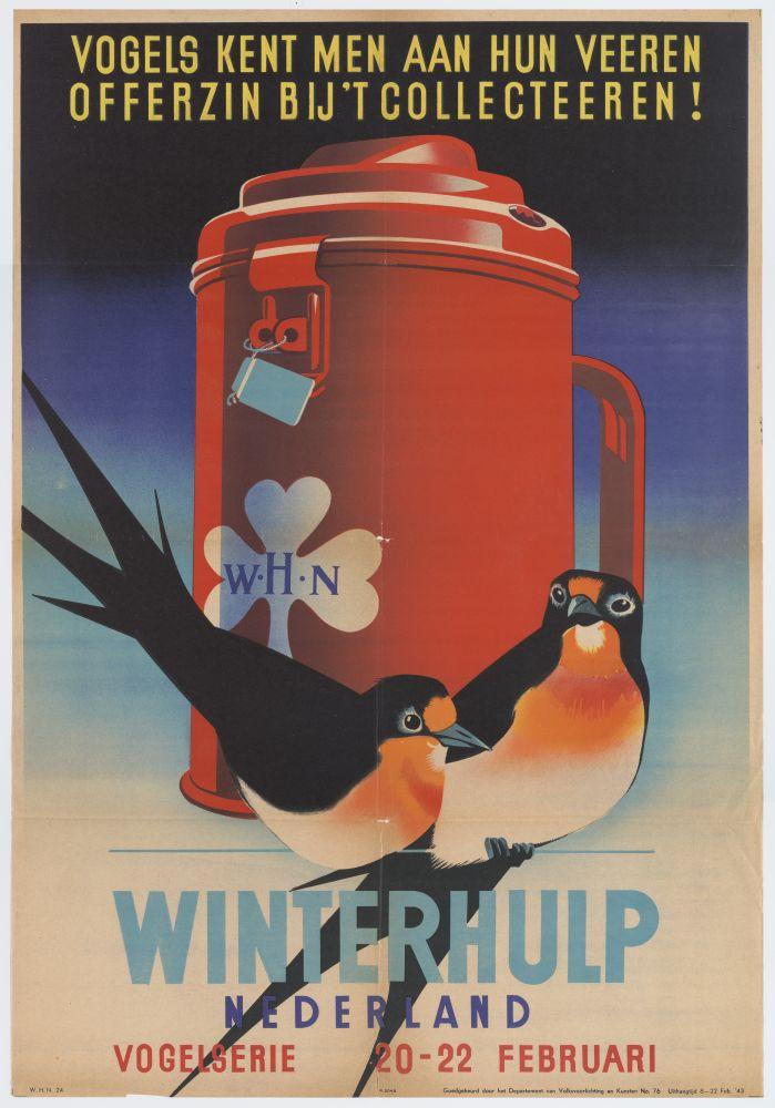 Affiche voor de Winterhulp uit 1943.