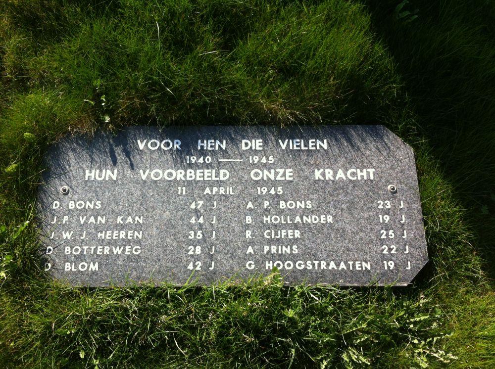 Dit monument staat aan de rijksweg tussen Alkmaar en Den Helder, tegenover de Zijpersluis.